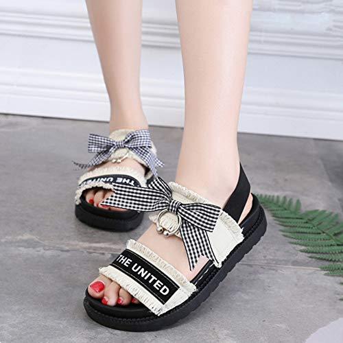 des 2019 chaussures coréenne nouveau Version de Sandals sauvages plates simples femmes d'été femmes Rome sable Harajuku du collège 8gRSw