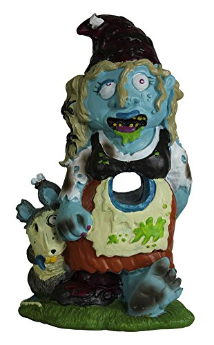 Zombie gnome girl garden statue sculpture halloween decor for Gnome 3 decoration fenetre
