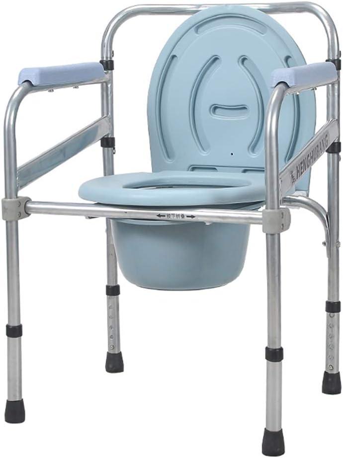 MMZZ Toilet Chair Silla Plegable de la cómoda de la cabecera, Mesilla de baño y baño Steel Medical 3 en 1 Inodoro sobre Asiento de Inodoro con Inodoro cazo