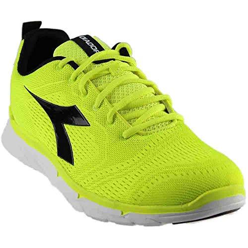 Diadora Men's NJ-303 Trama-M Running Shoe, Yellow Fluorescent/Black, 11 M US