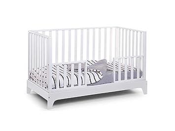 Childhome babybett maxi weiß mit matratze 70x140cm umbaubar: amazon