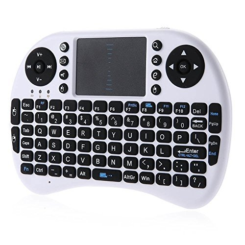 iPazzPort Wireless Mini Keyboard with Touchpad for Android TV Box and Raspberry Pi 3 and HTPC KP-810-21S Black (810 Pro Cabinet)