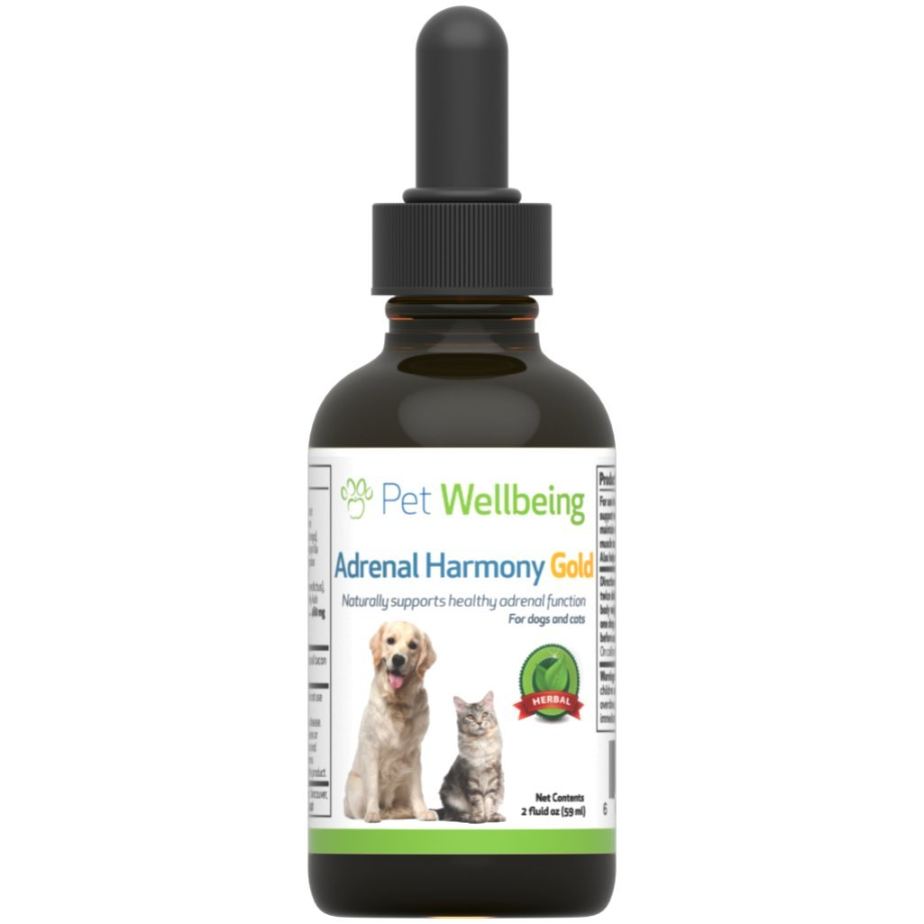 Pet Wellbeing - Adrenal Harmony Gold For Dogs- Natural Support for Adrenal Dysfunction and Cushing's - 2 Ounce (59 Milliliter)