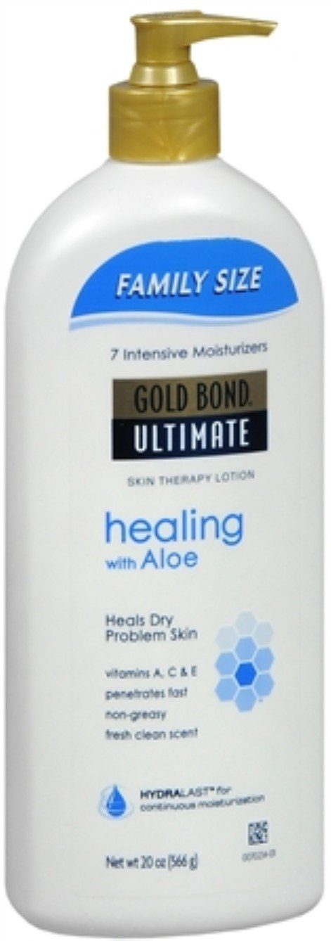 Gold Bond Ultimate Skin Therapy Lotion Healing with Aloe 20 oz (Pack of 7)