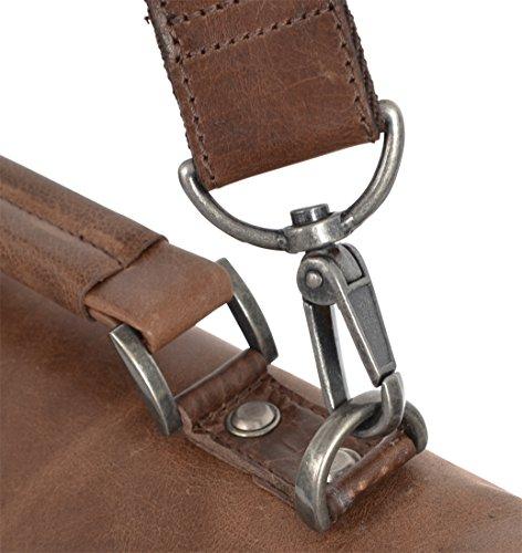 """Gusti Cuir studio """"Phil"""" sac à bandoulière sac business en cuir sac notebook Macbook-Pro 13"""" sac porté épaule mallette en cuir serviette porte-documents style vintage 2B14-20-1wp"""