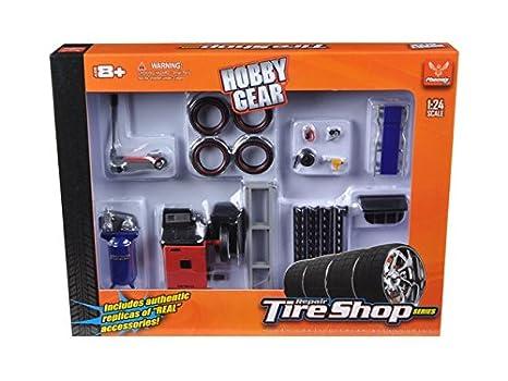 Amazon.com: Reparación neumáticos Shop Set de Series Escala ...