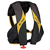 1 - Onyx A/M-24 Deluxe Automatic/Manual Inflatable Life Jacket - Carbon/Yellow