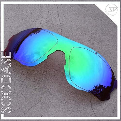 SOODASE Pour Oakley EVZero Des lunettes de soleil Argenté/Vert 2 Paires Verres de remplacement polarisés