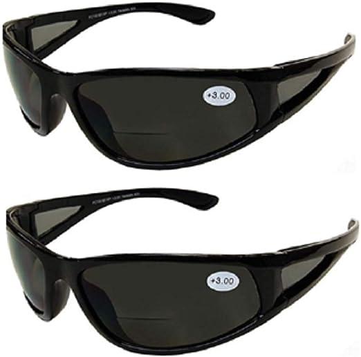LADIES BLACK BIFOCAL SUNGLASSES READING GLASSES SUNREADERS 100/% UV SPRING HINGES Strength 1.25