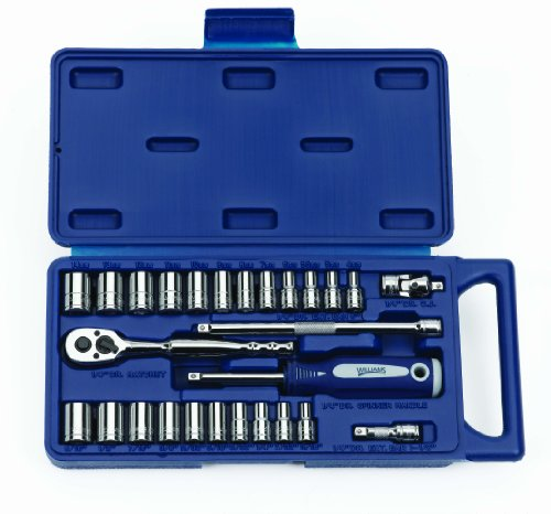 Williams 50672 1/4 Drive Socket and Drive Tool Set, 27-Piece