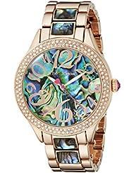 Betsey Johnson Womens BJ00478-04 Analog Display Quartz Rose Gold-Tone Watch