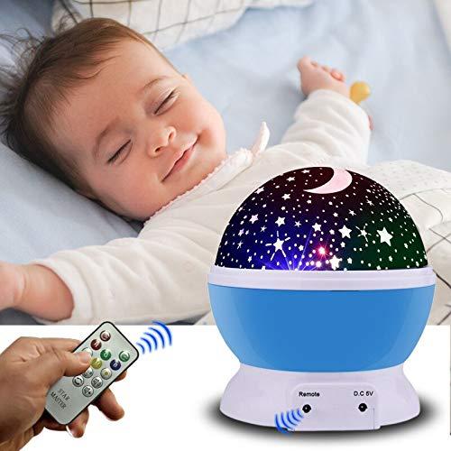 weiaikeke LED Proyector Giratorio de Estrella Cable USB Novedad ...