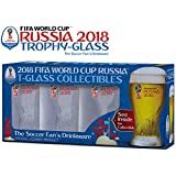 Set of 4 Russia 2018 Logos FIFA World Cup Trophy-glass Gift-Box -The Soccer Fan 's Drinkware set