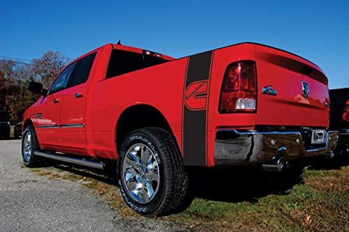 Elite Limit Pro Master Armor Series Compatible with Dodge Ram 1500 2500 3500 Truck Graphics Cummins Bed Stripes Decal Diesel Bed Band Sticker 3m Vinyl Accessory Kit (Matte Black) ()