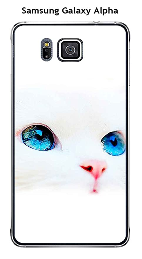 Onozo Carcasa Samsung Galaxy Alpha diseño gato blanco ojos ...