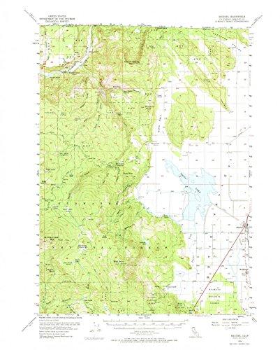 YellowMaps Macdoel CA topo map, 1:62500 scale, 15 X 15 Minute, Historical, 1954, updated 1974, 21.9 x 17.5 IN - (Utm 1 Edge)