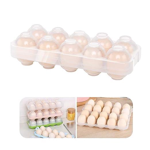 Bandeja para huevos de cocina, contenedor de almacenamiento para ...