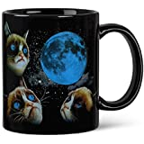 Grumpy Cat Moon Color Changing Space Coffee Mug