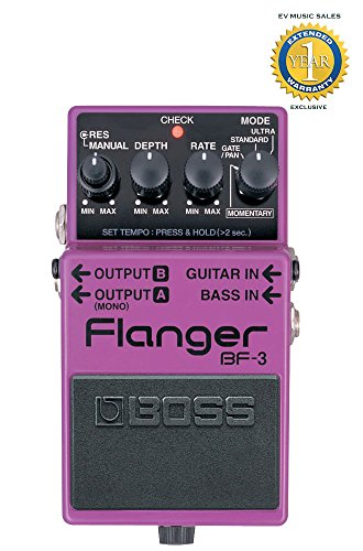 Boss BF-3 Flanger Pedal with 1 Year Free Extended Warranty by BOSS