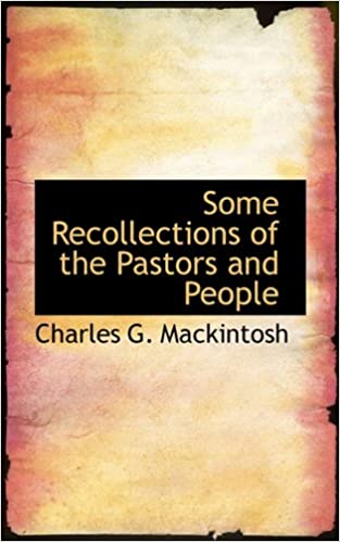 Book Some Recollections of the Pastors and People