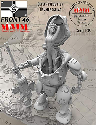 Unpainted Kit 1/35 Gefechtsroboter Fantasy Girl with Machine Armor Resin Figure Miniature Garage kit
