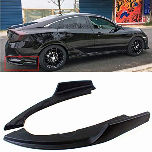 2 Pcs Rear Bumper Lower Side Splitters Lip Apron Corner Valance Covers For Honda For Civic 2016-2018 4 Door Sedan Model Black ()