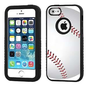 One Tough Shield ? 3-Layer Hybrid Case (Black/Black) for Apple iPhone 5C - (Baseball) wangjiang maoyi