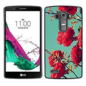 LG G4 / H815 H812 H810 H811 LS991 VS986 US991 Único Patrón Plástico Duro Fundas Cover Cubre Hard Case Cover - Bush Pink Red Teal Sky Nature Blue