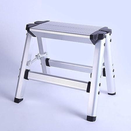 Escalera de tijera Escalera lateral de doble cara de aluminio Escaleras de engrosamiento plegables Taburetes de lavado de autos simples para el hogar Reposapiés para escaleras de cocina para adultos y: Amazon.es: