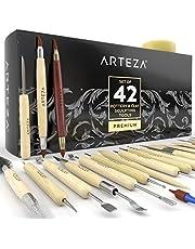 Arteza Kit de herramientas para modelar arcilla   Set de 42 piezas   Herramientas de escultura en arcilla para principiantes y expertos