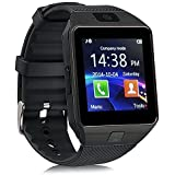 Webilla M9 Black Smart Watch Bluetooth with Sim Slot, Memory Card Slot Camera and Calling Function Compatible for HTC Desire 310 1GB RAM (Unisex Black Free Size)