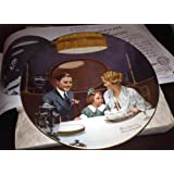 """Norman Rockwell """"The Birthday Wish"""" Collector Plate by Knowles China Company"""