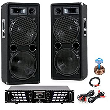 PA Sistema Amplificadores Altavoces 3000W MP3 USB SD Amplificador DJ-707: Amazon.es: Electrónica
