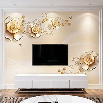 Yosot 3d Custom Gold Stieg Geblumten Tapeten Schlafzimmer Minion