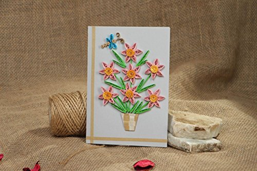 Handmade Quilling Postcard