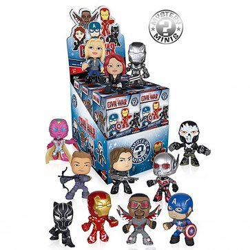 Funko Marvel Captain America 3  Civil War Mystery Minis Vinyl Mini Figure Display Box   Contains 12 Blind Box Figures