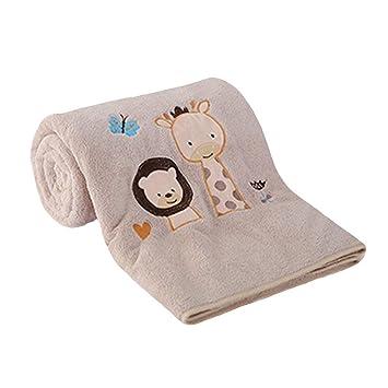 SHANG BEI LE Toallas para bebés - Sin Pelusas, súper Suaves y absorbentes de Agua, aptas para Pieles delicadas del bebé(Tan,S): Amazon.es: Hogar