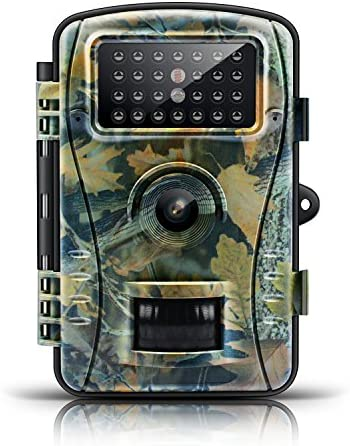 Upgraded Trail Game Camera-ENKLOV 12MP 1080 Wildlife Hunting Camera with Infrared Night Vision,26pcs 940nm IR LEDs,2.4inch LCD Screen,IP56 Waterproof