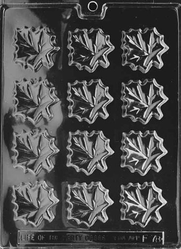 Cybrtrayd Life of the Party F078 Maple Leaves Tree Syrup Chocolate Candy Mold in Sealed Protective Poly Bag Imprinted with Copyrighted Cybrtrayd Molding ()