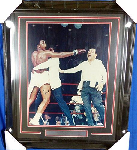 Muhammad Ali Autographed Framed 16x20 Photo PSA/DNA #S14043