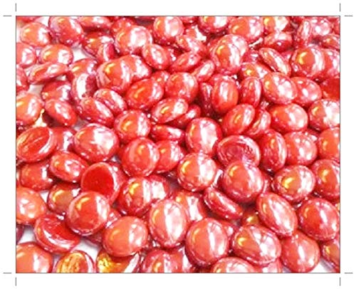 250g (app 57) Glass Mosaic Art Drops Red 20mm by SOOTHING IDEAS®