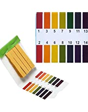 TOOGOO 3 set 240 Strisce Professionale 1-14 pH cartina al litio strisce test ph acqua cosmetica suolo pH Test Strisce di carta con scheda di controllo