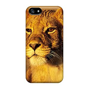 Tough Iphone BSp23207muvB Cases Covers/ Cases For Iphone 5/5s(cute Lyon)