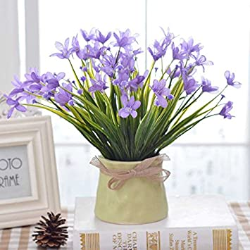 Jhyflower Business Casual Orchidee Topf Blume Künstliche Blume Set  Einrichtung Wohnzimmer Schlafzimmer Esstisch Dekoration Süßigkeiten Flasche