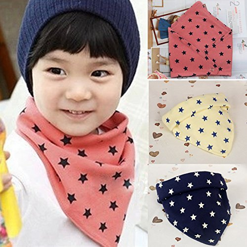 3 Pcs Baby Infants Lunch Bibs Unisex Boys Girls Lovely Cartoon Saliva Towel Kids Dribble Drool Catcher Gift Set Children Triangle Head Scarf - Vintage Png Frame