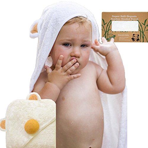 Bamboo Hooded Towel for Kids with Bath Sponge   Luxury Wrap