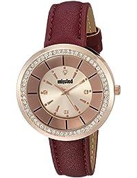 Women's 'Dress Sport' Quartz Metal Casual Watch, Color:Red (Model: 10030914)