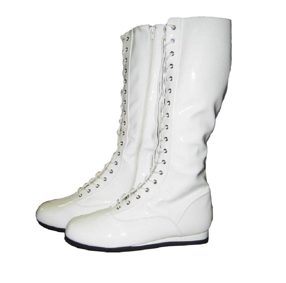 Pro Wrestling Costume Boots (Large, White)