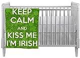 Kiss Me I'm Irish Crib Comforter / Quilt (Personalized)