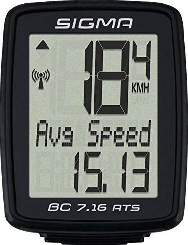 Sigma Sport BC 7.16 Ats Wireless Bicycle Computer, Black